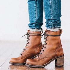 These boots get better and better with every wear. Karen Lace Up Short Boots | The Frye Company
