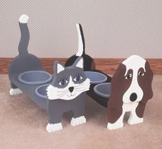 Cat & Dog Dish Holders Wood Plans