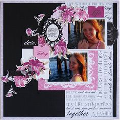 'Today' by Hetty Hall. Kaisercraft Materials used: Lily Dainty Mallow Iris Wall Flower Collectables Scrapbook Blog, Scrapbooking Layouts, Scrapbook Pages, Layout Inspiration, Flower Wall, Scrapbooks, Crushes, Card Making, Paper Crafts