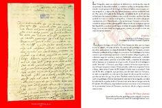 Página de los «Autógrafos de Miguel de Cervantes», prologados por el director de la RAE.