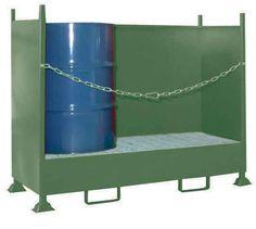 CUBETOS CON LATERALES.  VD2. Para proteger los bidones almacenados de golpes accidentales.