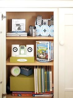 October Storage Projects: Media Room