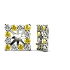 0.80cttw Natural White Round Diamond (SI2-I1-Clarity,G-H-Color) & Natural Yellow Sapphire Earrings Jackets for Princess Stud in 14K White Gold. TriJewels. $625.00. Can hold Princess Shape Diamond of 0.90ct to 1.10ct or 5mm Princess Shape Stud each.. The natural properties and composition of mined gemstones define the unique beauty of each piece. The image may show slight differences to the actual stone in color and texture.. SI2-I1-Clarity,G-H-Color Diamond & ...