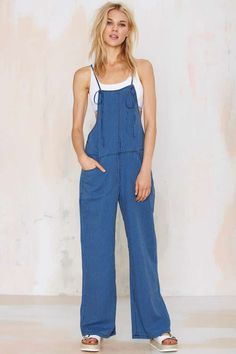 Blank NYC Law and Disorder Striped Jumpsuit