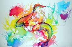 Water colour fish. I like the colour and fluidity of the image. Would be a great shoulder into upper arm piece.