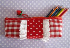 How to Sew Pencil case or cosmetic bag. DIY Photo Tutorial