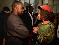 http://chicerman.com  billy-george:  Jaden Smith and Kanye West at the Yeezy Season 2 show  #streetstyleformen