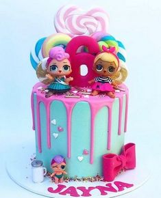 Lol Doll Cake Designs regarding Birthday Ideas Doll Birthday Cake, Funny Birthday Cakes, 6th Birthday Parties, Birthday Ideas, 8th Birthday, Funny Cake, Happy Birthday Kids, Doll Cake Designs, Bolo Super Mario