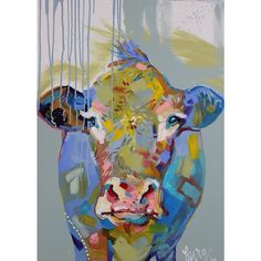 Elaine Burge is an artist based in South Georgia creating fine art, jewelry and home goods that resonate with color-lovers and wildlife enthusiasts. Moma, Cow Art, Gold Diy, Colorful Animals, Textile Prints, Portrait Art, Vintage Prints, How To Introduce Yourself, Amazing Art