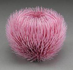 "*Art Glass - ""Tactural Stimulation Pink"" (flameworked glass) by Dafna Kaffeman"