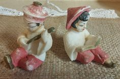 1950's Vintage Asian Boy and Girl  Boy Playing by PamsWayBackWhen