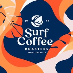 Evgeny Tutov - Revised final version of the Surf Coffee Co logo with an element of the Surf Coffee, Coffee Logo, Typography Logo, Logos, Typography Design, Corporate Branding, Logo Branding, Branding Design, Branding Ideas