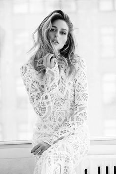 FOR THE MUSE || Olivia Palermo in textured white lace || NOVELA BRIDE...where the modern romantics play & plan the most stylish weddings... www.novelabride.com (Instagram: @novelabride)
