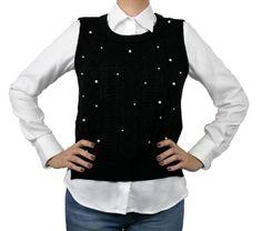 Colete fechado de tricô bordado da marca Coleteria ♡ - Coletes femininos e infantis - Coleteria | sempre♡