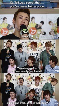 Block B secrets.........ummmm........awkward! this is why i love P.O. xD