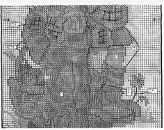 """MODIFIED. """"Max and Moritz"""" Hummel cross stitch - pattern 1B"""
