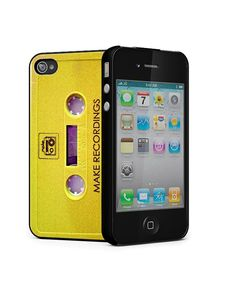 Yellow  Vintage Cassette Tape iphone case iPhone 4 / by StyleCase, $9.99