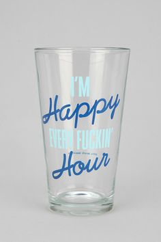 #UrbanOutfitters          #Apparment #Dinnerware    #needs #content #pint #outside #happy #diameter #height #graphic #usa #bar #hand #glass #kitchen #care #classic #size             Happy Ever Hour Pint Glass                          Just what every bar and kitchen needs! A classic pint glass topped with a graphic on the outside.    CONTENT   CARE  - Glass  - Hand wash  - Made in the USA    SIZE  - Diameter: 3.25  - Height: 5.75…