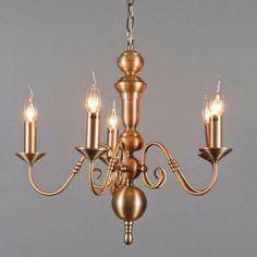 Lámpara de araña OLD DUTCH 5 bronce - Candelabro clásico de araña en color bronce mate.Esta lámpara es muy moderna, perfecta para la iluminación de su casa.  #gold