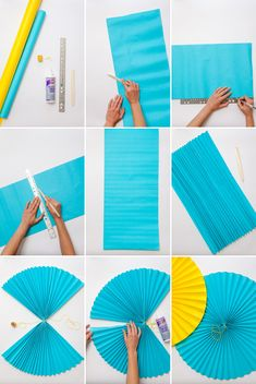 DIY Paper fans and paper fan garlands