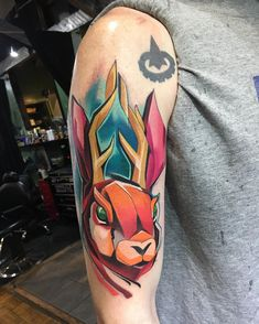 Matej Martius neo traditional tattoo татуировки в стиле неотрад  #inkpplcom #inkedpeople #tattoo #tattoos #neotraditional #neotrad #newschool #tattooartist #deer #illustration