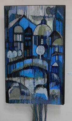 ТАМ, ГДЕ БЕЛЫЕ НОЧИ... Гобелены Светланы Синяевой. Выставочный зал ЧерМО. Contemporary Tapestries, Art Textile, Textiles, Tapestry Weaving, Fabric Art, Fiber Art, Needlepoint, Needlework, Embroidery
