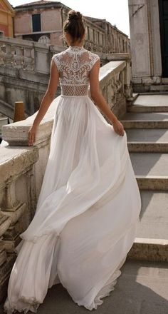 Featured Dress: Julie Vino; Wedding dress idea.