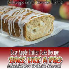 Easy Apple Fritter Cake Recipe Click picture to see the video on my youtube channel