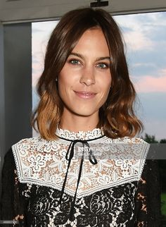 Alexa Chung attends the London Fashion Week party hosted by Ambassador Matthew Barzun and Mrs Brooke Brown Barzun with Alexandra Shulman, in association with J. Crew, at American Ambassadors Residence, Winfield House,Regents Park on September 18, 2015 in London, England.