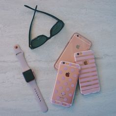 Rose Gold everything! Apple Watch with the ColorSplash collection in Rose Quartz and hybrid case in Rose Smoke