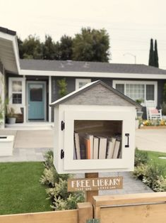 Outdoor Spaces Brought to Life on 'Hidden Potential' Little Free Library Plans, Little Free Libraries, Little Library, Street Library, Outdoor Rooms, Outdoor Decor, Lending Library, The 'burbs, Hgtv