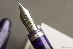 "Love that ""extra flessible"" nib! The Omas Ogiva Alba Fountain Pen in violet."
