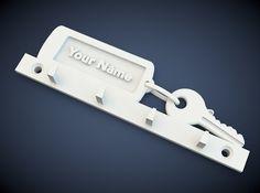 Key holder designed for 3D printing in cinema 4d