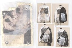 Fashion Sketchbook - draping development; fashion design process; fashion portfolio // Vy Cutting