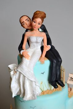 Lovely wedding couple topper