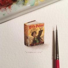 """Day 75/100 (19/25#tinytuesdays) : """"Harry Potter and the Deathly Hallows"""" is the seventh and final novel of the Harry Potter series written by British author J. K. Rowling. Released globally in 93 countries Deathly Hallows broke sales records as the fastest-selling book ever a record it still held in 2012.  24 x 18 mm.   by lorraineloots"""