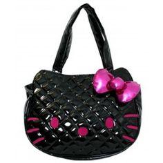 Hello Kitty Black Face Quilted Handbag www.BagLane.com