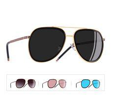 f58e7f4305 Gafas De Sol Espejo Polarizadas Piloto Aviador Mujer 100% Protección UV400  2018
