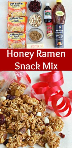 Crunchy Ramen Snack Mix - deliciously coated in a honey butter crunch! ~ http://www.southernplate.com