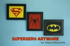 superhero crafts | ... scotts | DIY, Children's Crafts, Home Decor: DIY: Superhero Artwork
