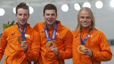 """""""The good thing about the team pursuit is that all the Dutch skaters are in one team, so they can only win one medal.""""  - USA speed skating coach Kip Carpenter had enough of Dutch podium sweeps. (REUTERS/Issei Kato)"""