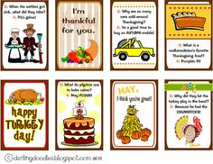 cheesy Thanksgiving day jokes and lunchbox notes--free pdf download