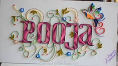 The name of artist is written at the bottom on the right- ABCs quilling (Searched by Châu Khang)