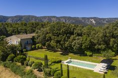 Mas with pool for sale in Oppede, Janssens Immobilier Provence Real Estate Agency, Real Estate Marketing, Provence, Living Room With Fireplace, Open Plan Kitchen, Stunning View, Property For Sale, Terrace, Swimming Pools