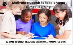 Laura Candler of Corkboard Connections shares how to motivate students to take charge of their learning. From the blog series: 20 ways in 20 days...enjoy teaching, no matter what!