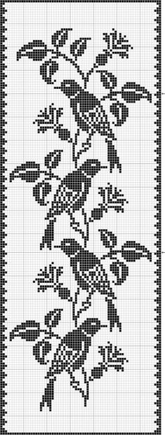 oiseau - bird - Point de croix - cross stitch - Blog : http://broderiemimie44.canalblog.com/