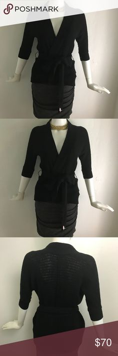 NWT James Perse Black Wrap cardigan In perfect condition NWT James Perse cardigan.  Wrap sweater and ties in the front or side. Size 1 JP - Size Small James Perse Sweaters Cardigans