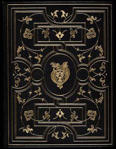 Antique Book - Black + Gold Cover
