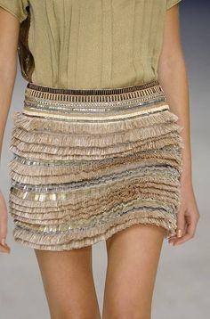 ZsaZsa Bellagio: gorgeous, gorgeous Love the fabric of this skirt...