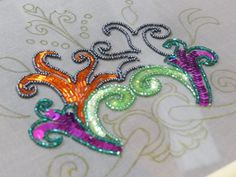 Embroidery with beads